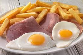 Honey Glazed Ham - Brace Of Weald Farm Eggs - Hand Cut Chips