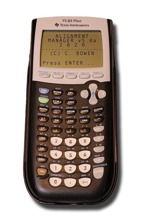 #AMTI-84P Alignment Manager™ Calculator