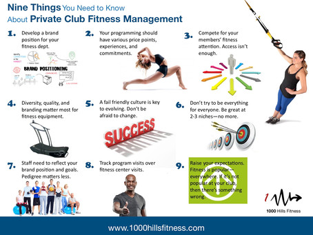 Infographic: 9 things about fitness management
