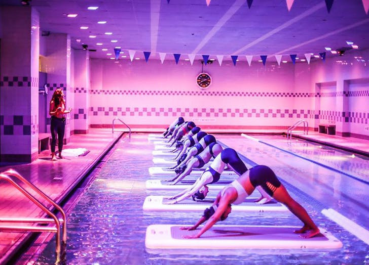 Yoga on the Pool