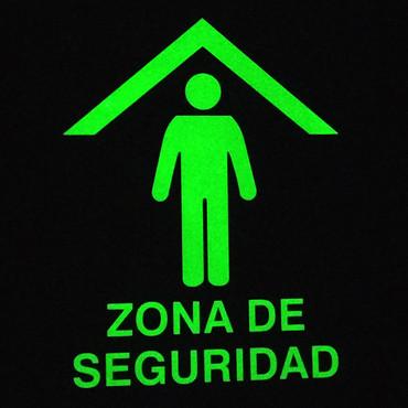 Zona de Seguridad Foto luminiscente