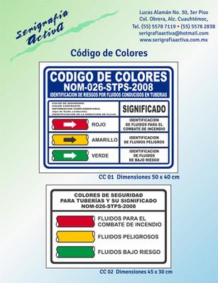 Señalamientos Codigo de Colores