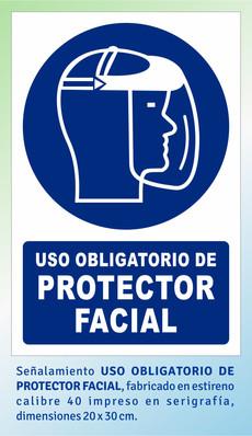 USO OBLIGATORIO DE PROTECTOR FACIAL