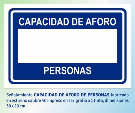 CAPACIDAD DE AFORO DE PERSONAS