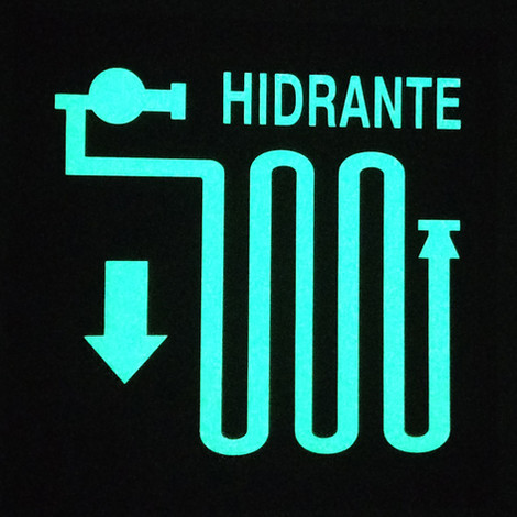 Hidrante Foto luminiscente