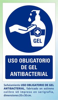 USO OBLIGATORIO DE GEL ANTIBACTERIAL
