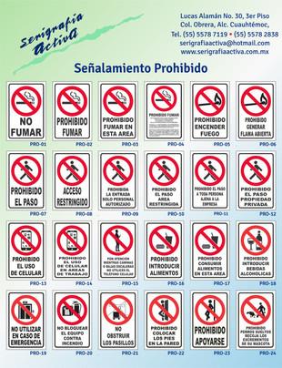 Señalamientos Prohibido