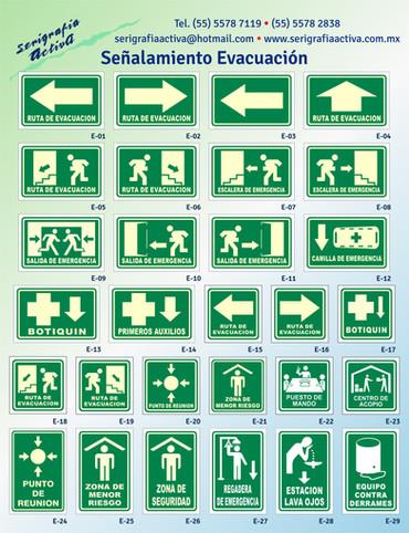 Señalamientos de Evacuación