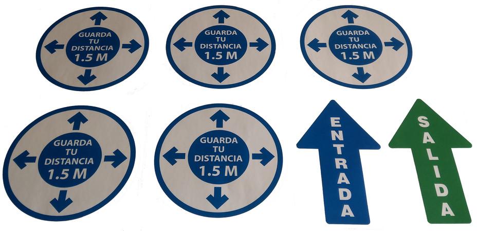 Kit Etiqueta Sana Distancia $ 350.00