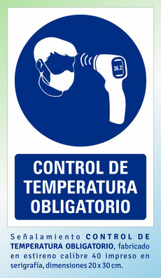 CONTROL DE TEMPERATURA OBLIGATORIO