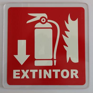 Señalamiento Extintor Acrílico