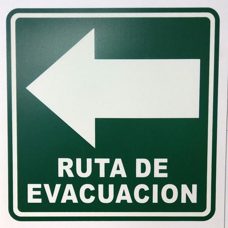 Ruta de Evacuación Izquierda PVC