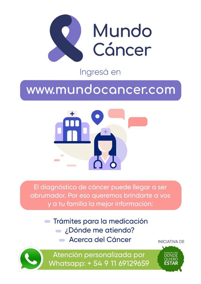 mundocancer.com un sitio para pacientes oncológicos y su familia