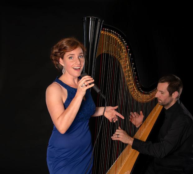 Hochzeitssängerin Sara Binet Duo Harfe