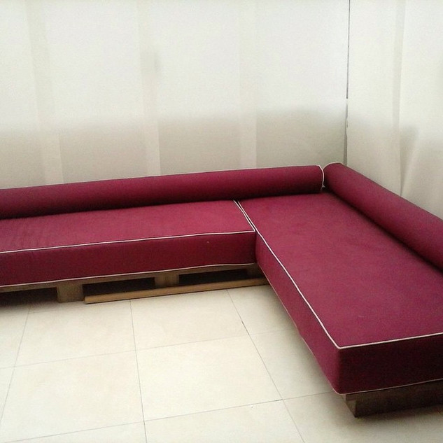 Almofadas Asento e Rolos