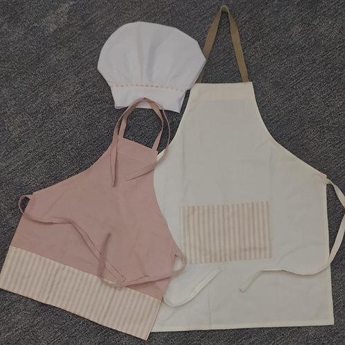 Kit Avental Branco e Rosa