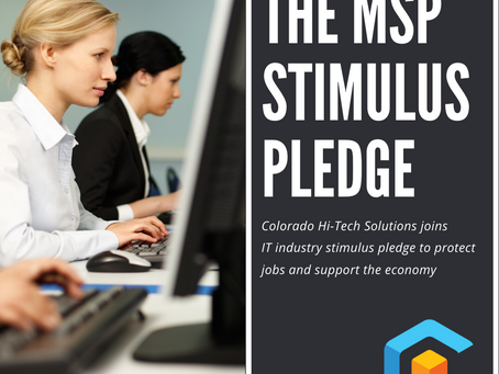 Colorado Hi-Tech Solutions joins IT industry stimulus pledge to protect jobs and support the economy