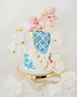 Romantic Moroccan inspired wedding cake!