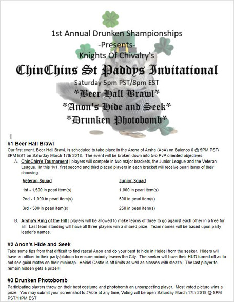 Vanguardian Championships Presents The  1st Seasonal ChinChin Saint Paddy's Brawl!