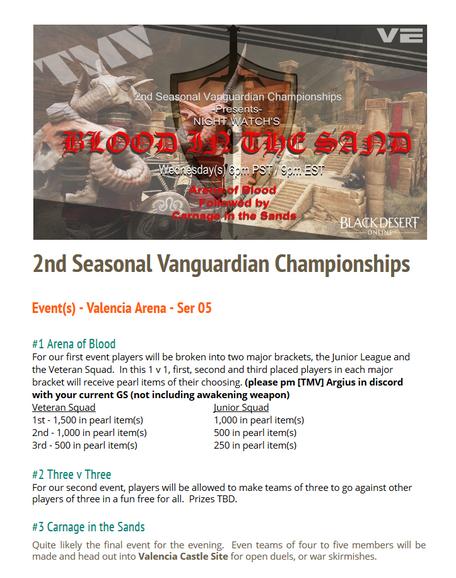 2nd Seasonal Vanguardian Championships! 21 December 2016