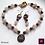 Thumbnail: Granat - SET Earrings and Necklace. Garnet & Rose Quartz