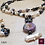 Thumbnail: Lilith - SET earrings & double-necklace. Pearls, Hematite