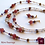 Thumbnail: Rêve Sauvage - Set 3 Necklaces & Earrings. Strawberry Quartz & Agate