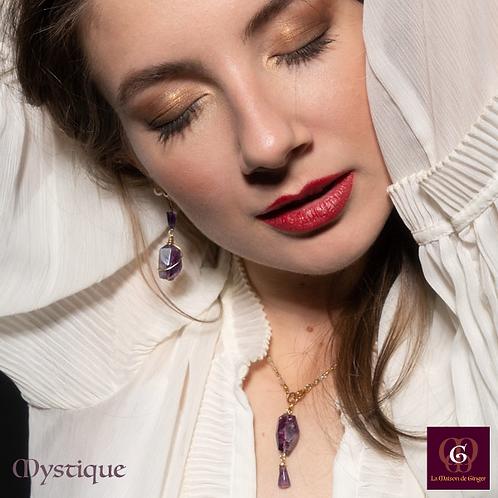 Mystique -  SET Earrings & Necklace. Amathyste