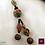 Thumbnail: Devi - SET Earrings & necklace. Tibetan beads, brass elements, Agate galvanized