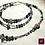 Thumbnail: LUNA - SET Triple-Necklace & Earrings. Agate, Labradorite, Handmade beads