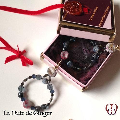 La Nuit de Ginger - Earrings. Agate & Handmade Elements