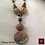 Thumbnail: Cinque Terre. Necklace. Chrysanthemum Stone, Pyrite, Hematite, Galvanized Agate