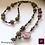 Thumbnail: Bourgogne - SET Necklace & Earrings. Galvanized Agate & Pyrite.