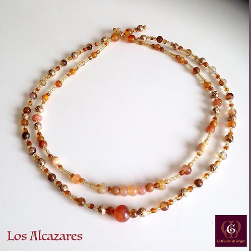 Los Alcazares, Necklace - Carneol, Agate, Volcanic Stones