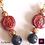 Thumbnail: LA REINE - Set Earrings & Necklace. Labradorite & galvanized Volcanic Stones