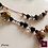 Thumbnail: Phénix - Set earrings & necklace. Garnet, Labradorite, Brass