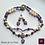 Thumbnail: Reine de la Nuit - Set Earrings & Necklace. Amethyste & Pearls
