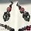Thumbnail: La Nuit Tombe - SET Necklace & Earrings. Amethyste, Agathe & Onyx