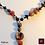 Thumbnail: Safran - SET Earrings & necklace. Coralle, Labradorite, Tiger-eye, Wood, Brass