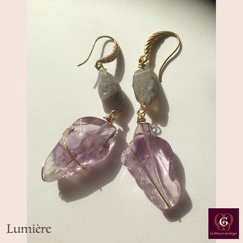 Lumière -  Earrings. Amethyste, Labradorite