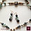 Thumbnail: Fantasmer - SET Earrings & necklace. Aquamarine, Labradorite, Jasper, Agate