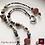 Thumbnail: Esprits de la Forêt - SET earrings & necklace. Aquamarine, Granat, Labradorite