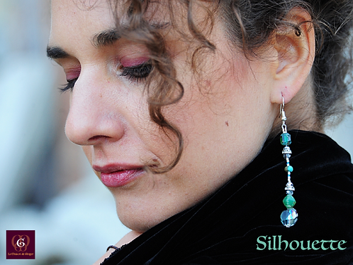 Silhouette - Single Item Handmade pair of unique and exclusive earrings
