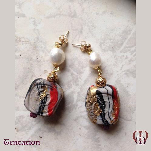 Tentation - Earrings. Pearls, Tourmaline & Handmade Elements by La Maison Ginger