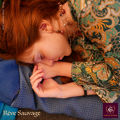 Rêve Sauvage - Set 3 Necklaces & Earrings. Strawberry Quartz & Agate