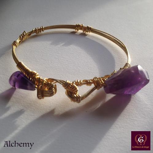Alchemy -  Unique Bracelet. Amathyste