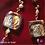Thumbnail: Rêver de Voler -  Earrings. Amethyste, Pearls, Handmade beads with 24k Gold