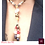 Thumbnail: Blanc du Nil - SET Earrings & necklace. Pearls, Coral, Wood, Bone, Copper.
