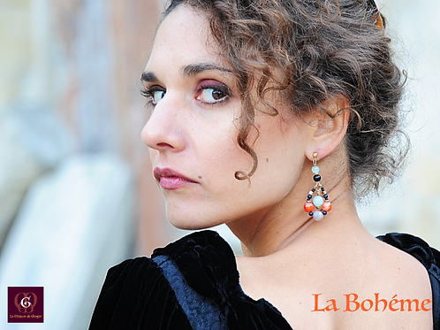 La Bohème Single item. Unique handmade earrings.