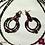Thumbnail: Sicilia - SET Triple-Necklace & Earrings. Precious Granat